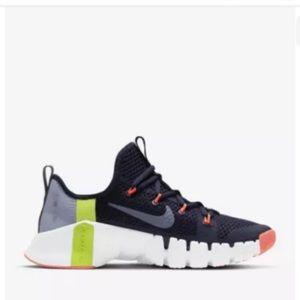 NWOT Nike Women Free Metcon 3 Navy Sneakers Sz 9.5